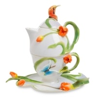 Чайный набор из фарфора на 1 персону «Тюльпаны» FM-40/7 (Pavone)