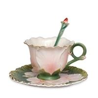 Чайная пара из фарфора «Герань» FM-61/3 (Pavone)