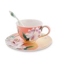 Чайная пара из фарфора «Сальпиглоссис» FM-63/3 (Pavone)