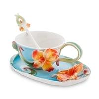 Чайная пара из фарфора «Лилии» FM-05/2 (Pavone)