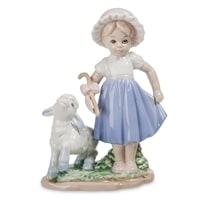 Статуэтка «Девочка и ягненок» JP-45/13 (Pavone)