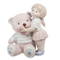 Фигурка из бисквитного фарфора «Девочка с мишкей» JP-48/30 (Pavone)
