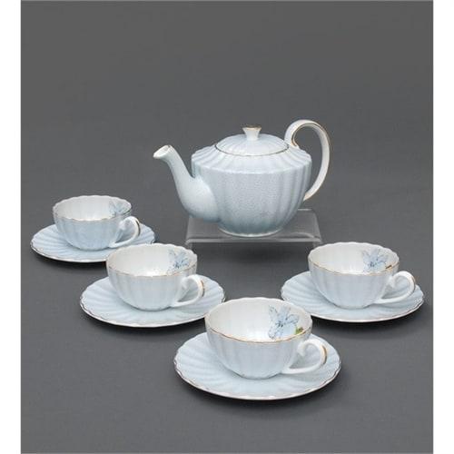 Чайный сервиз из костяного фарфора на 4 персоны «Согно Азурро» AS-34 голубой