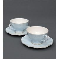 Чайный набор из костяного фарфора на 2 персоны «Грациозо Блю» голубой AS-36