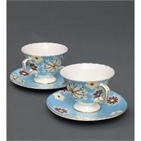 Чайный набор из костяного фарфора на 2 персоны «Антонелла» голубой AS-45