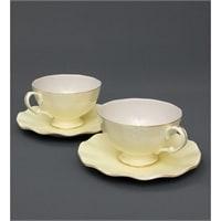 Чайный набор из костяного фарфора на 2 персоны «Грациозо» желтый AS-39