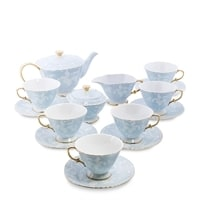 Чайный сервиз костяного фарфора на 6 персон «Фиоре Дорато» AS-42 (Pavone)