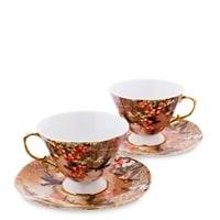 Чайный набор из костяного фарфора на 2 персоны «Дольче Вита» AS-60 (Pavone)