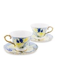 Чайный набор из костяного фарфора на 2 персоны «Фиор Дель Аморе» AS-64 (Pavone)