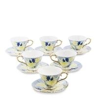 Чайный набор из костяного фарфора на 6 персон «Фиор Дель Аморе» AS-65 (Pavone)