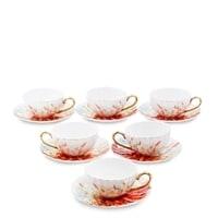 Чайный набор из костяного фарфора на 6 персон «Фиор Элеганта» AS-70 (Pavone)