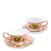 Чайный набор из костяного фарфора на 2 персоны «Дольче Вита» AS-80 (Pavone)