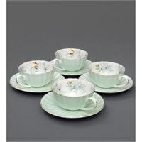 Чайный набор из костяного фарфора на 4 персоны «София Блю» AS-12 (Pavone)