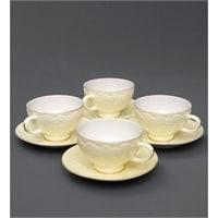 Чайный набор из костяного фарфора на 4 персоны «Лаце Росса» желтый AS-06