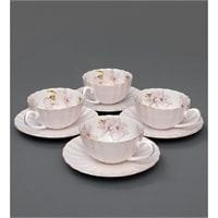Чайный набор из костяного фарфора на 4 персоны «София Верде» сирень AS-13