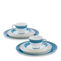 """Чайный набор из костяного фарфора на 2 персоны """"Византия"""" JK-188 (Band-E-Rumi Pavone)"""