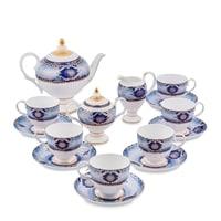 """Чайный сервиз из фарфора на 6 персон """"Флоренция"""" JK-14 (Pavone)"""