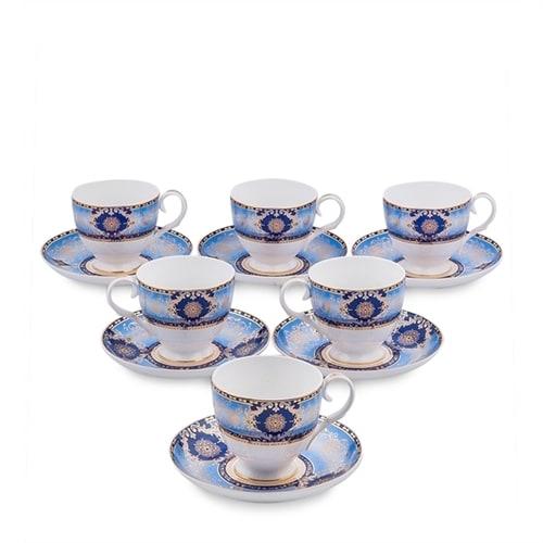 Чайный набор из костяного фарфора на 6 персон «Флоренция» JK-15 (Pavone)