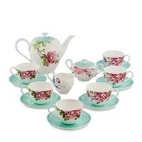 """Чайный сервиз из костяного фарфора на 6 персон """"Тоскана"""" JK-185 (Toscana Pavone)"""