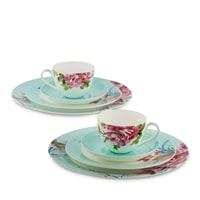 """Чайный набор из костяного фарфора на 2 персоны """"Тоскана"""" JK-181 (Toscana Pavone)"""