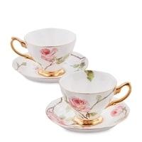 """Чайный набор из костяного фарфора на 2 персоны """"Итальянская роза"""" JK-37 (Pavone)"""