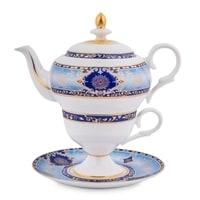 """Чайный набор из костяного фарфора """"Соло Флоренции"""" JK-19 (Pavone)"""