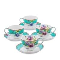 """Чайный набор из костяного фарфора на 4 персоны """"Виола"""" JK-114 (Viola Pavone)"""