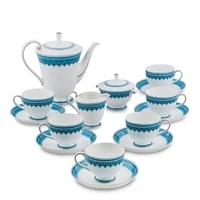 """Чайный сервиз из костяного фарфора на 6 персон """"Византия"""" JK-191 (Band-E-Rumi Pavone)"""