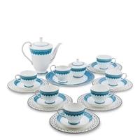 Чайный сервиз из костяного фарфора на 6 персон «Византия» JK-192 (Band-E-Rumi Pavone)