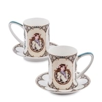 """Чайный набор из костяного фарфора на 2 персоны """"Габриэлла"""" JK-56 (Pavone)"""