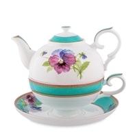 """Чайный набор из костяного фарфора """"Виола"""" JK-119 (Viola Pavone)"""