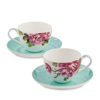 """Чайный набор из костяного фарфора на 2 персоны """"Тоскана"""" JK-183 (Toscana Pavone)"""