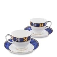 Чайный набор из костяного фарфора на 2 персоны «Золотой Палермо» JK-199 (Gold Palermo Pavone)