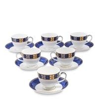 Чайный набор из костяного фарфора на 6 персон «Золотой Палермо» JK-200 (Gold Palermo Pavone)