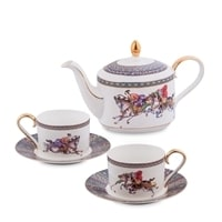"""Чайный набор из костяного фарфора на 2 персоны """"Восточное Поло"""" JK-45 (Pavone)"""
