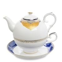 Чайный набор из костяного фарфора «Золотой Палермо» JK-197 (Pavone)