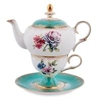 Чайный набор из костяного фарфора «Соло Неаполя» JK-25 (Pavone)