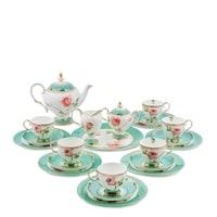 Чайный сервиз из костяного фарфора на 6 персон «Роза» JK-69 (Pavone)