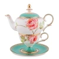 Чайный набор из костяного фарфора «Роза» JK-71 (Pavone)