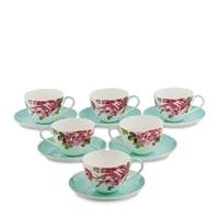 Чайный набор из костяного фарфора на 6 персон «Тоскана» JK-184 (Toscana Pavone)