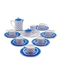 Чайный сервиз из костяного фарфора на 6 персон «Элегантность» JK-93 (Eleganza Pavone)