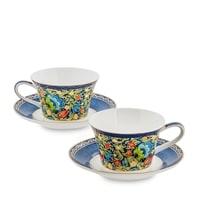 Чайный набор из костяного фарфора на 2 персоны «Цветочный джаз» JK-137 (Jazz Floreale Pavone)