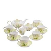 "Чайный сервиз из костяного фарфора на 6 персон ""Калла"" JK-75 (Calla Charme Pavone)"