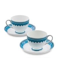 """Чайный набор из костяного фарфора на 2 персоны """"Византия"""" JK-189 (Band-E-Rumi Pavone)"""