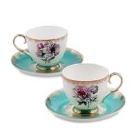 Чайный набор из костяного фарфора на 2 персоны «Цветок Неаполя» JK-23 (Pavone)