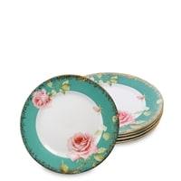 Набор из 6 тарелок «Роза» JK-230 (Milano Rose Pavone)