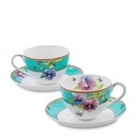 """Чайный набор из костяного фарфора на 2 персоны """"Виола"""" JK-113 (Viola Pavone)"""
