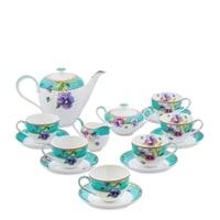 """Чайный сервиз из костяного фарфора на 6 персон """"Виола"""" JK-116 (Viola Pavone)"""