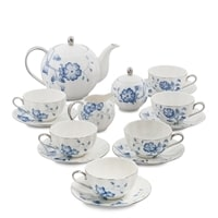 Чайный сервиз из фарфора на 6 персон «Голубая бабочка» JS-30 (Pavone)