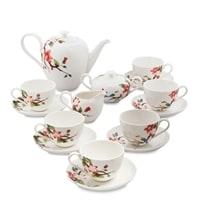 Чайный сервиз из фарфора на 6 персон «Райская птица» JS-24 (Pavone)
